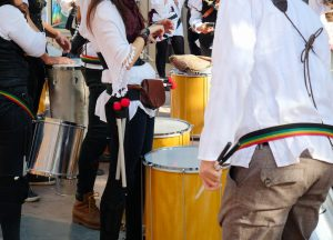 Traditional Samba drummers